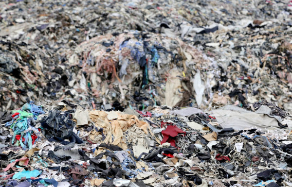 Textile waste at Asian Factory