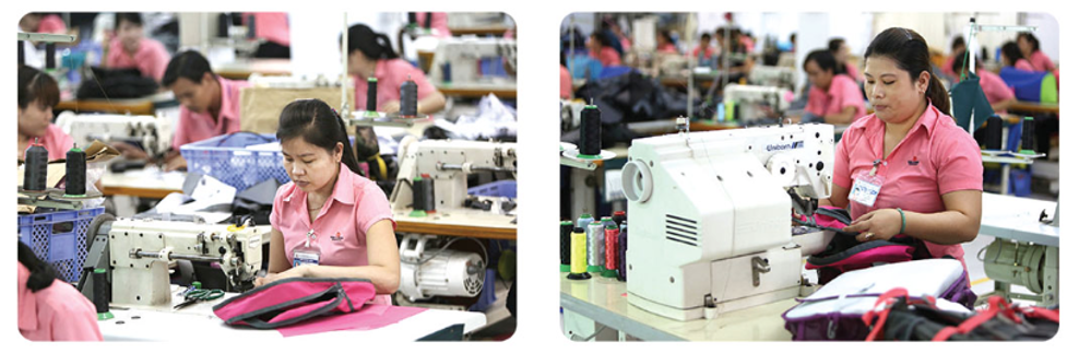 How Backpacks Are Made - sewing